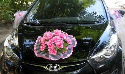 Украшения на машину - букет роз